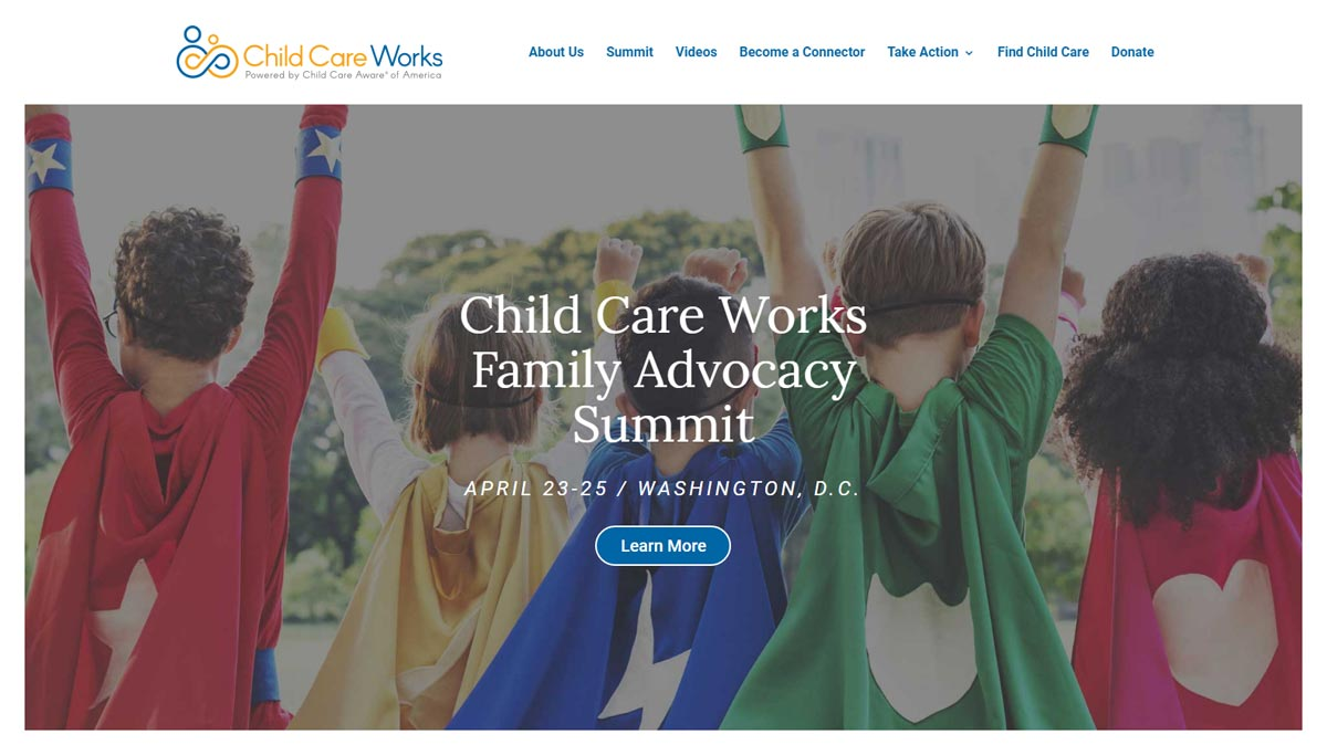 Child Care Works: CCW website homepage